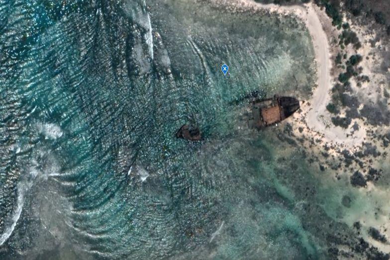 Z nudów przeglądał mapy Google. Znalazł wrak statku. Poznał historię załogi, która cudem przeżyła