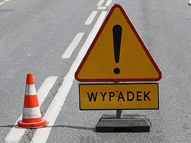 S8 stoi w kierunku Łodzi po wypadku