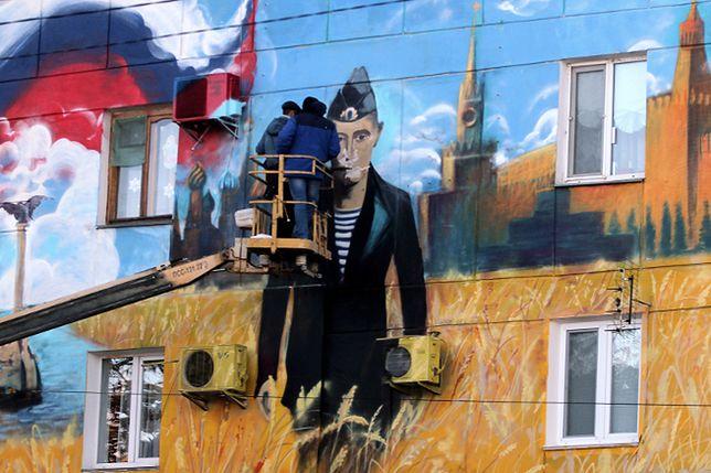 Mural dedykowany prezydentowi Putinowi, Sewastopol, Krym
