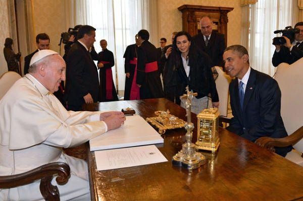 Pierwsze spotkanie papieża Franciszka i prezydenta Obamy