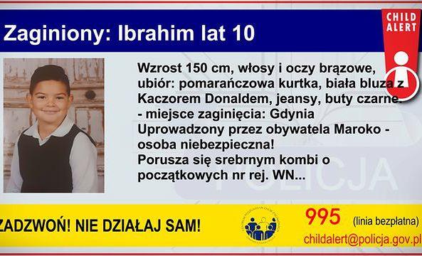 Child Alert. Trwają poszukiwania 10-letniego Ibrahima. Chłopca porwano w Gdyni.