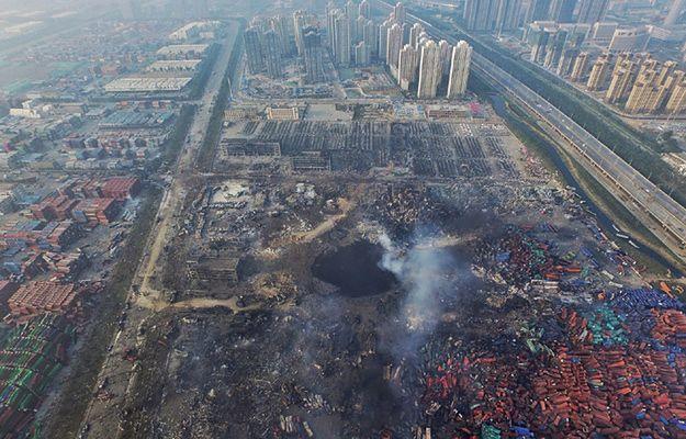 Tiencin 15 sierpnia, po wybuchach i pożarach