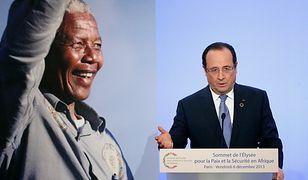 Francois Hollande wspomina Nelsona Mandelę
