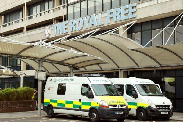 Londyński szpital Royal Free, w którym w izolacji przebywa Brytyjczyk z objawami Eboli