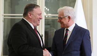 Sekretarz stanu Mike Pompeo i minister Jacek Czaputowicz