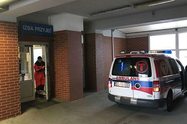 Izba przyjęć szpitala miejskiego w Sosnowcu. Tutaj trafił pacjent, który nie doczekawszy pomocy zmarł.