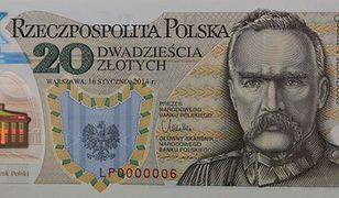 Pierwszy polski banknot z polimeru