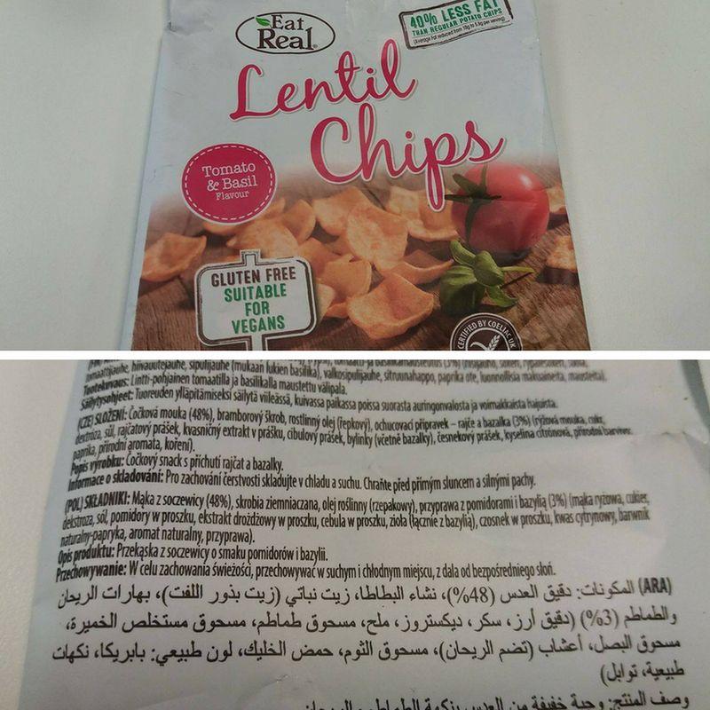 Chipsy z mąki z soczewicy