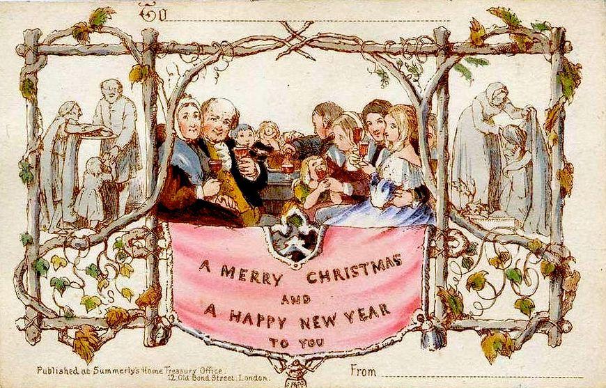 Pierwsza kartka świąteczna na świecie
