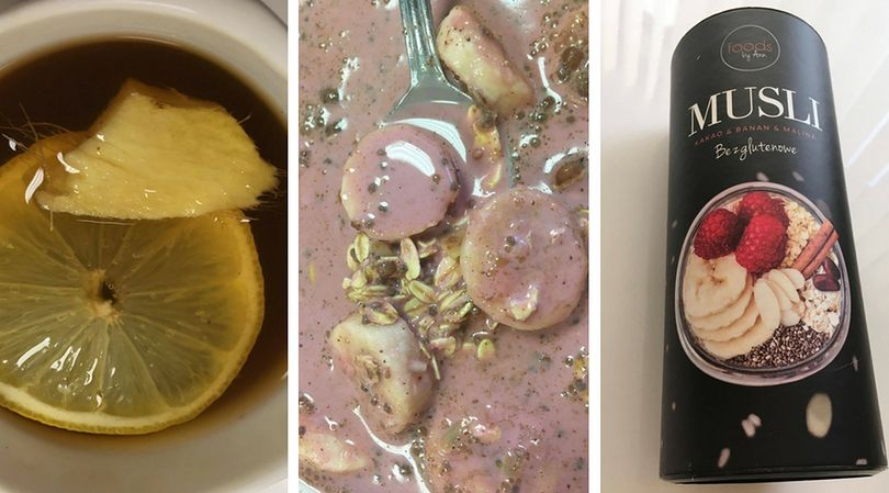 Herbata z miodem, imbirem i cytryną oraz musli z dodatkiem banana i soku z owoców pitahaya, to prawdziwe bomby witaminowe