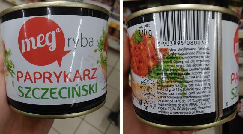 W paprykarzu szczecińskim firmy Mega Ryba, podobnie jak w konserwach innych firm, znajdziemy 20 proc. mięsa łososia