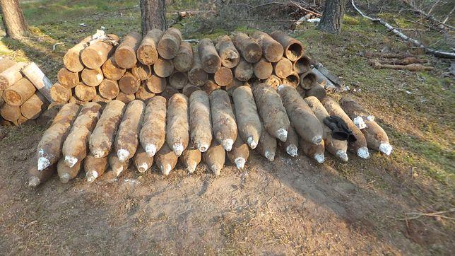 Pociski-niewybuchy znalezione przez grzybiarza trafią na poligon w Orzyszu