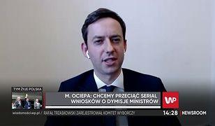 """Wybory 2020. Wotum zaufania dla rządu Mateusza Morawieckiego. Wiceminister Marcin Ociepa o """"zepsuciu"""" opozycji"""