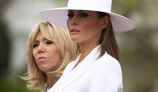 Melania Trump i Brigitte Macron na przyjęciu w Białym Domu. Eleganckie i szykowne