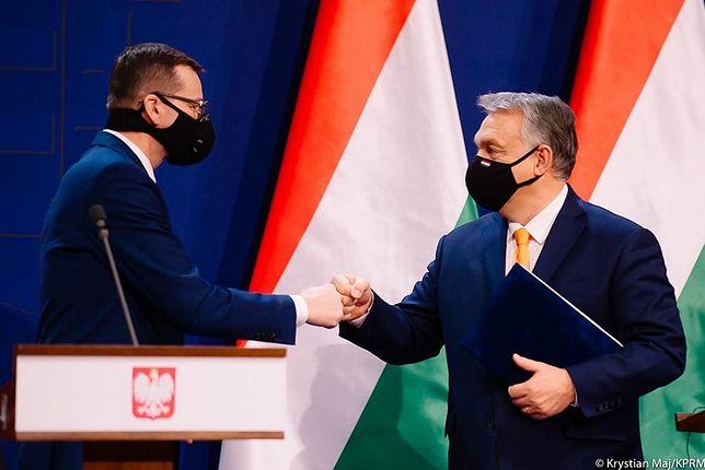 Premier Mateusz Morawiecki i Viktor Orban. Polska i Węgry zapowiedziały, że zaskarżą do TSUE mechanizm praworządności