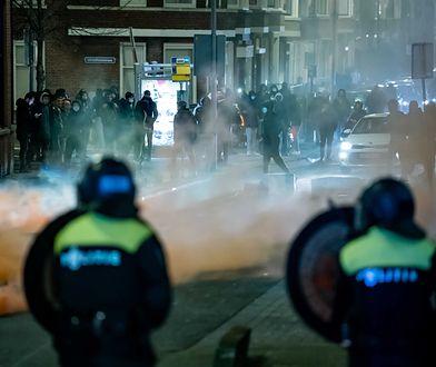 Zamieszki w Holandii trwają już trzeci dzień