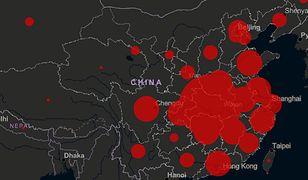 Mapa koronawirusa. Zakażonych jest już ponad 20 tys. osób. Rośnie też liczba ofiar