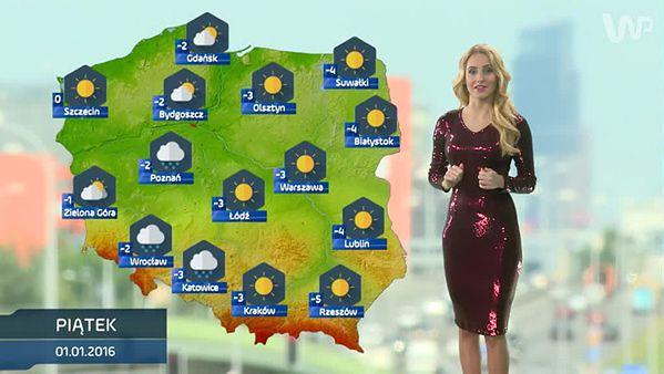 Prognoza pogody na 1 stycznia (plus dwa kolejne dni)