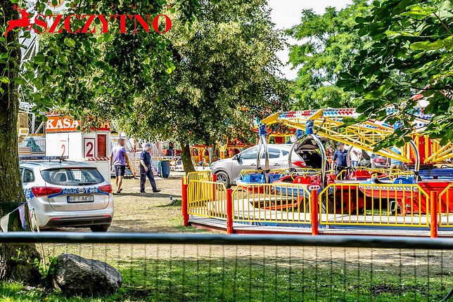 Wypadek miał miejsce na objazdowym wesołym miasteczku w Szczytnie
