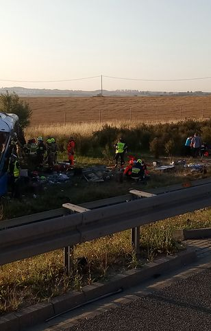 A1. Wypadek autokaru z dziećmi pod Tczewem