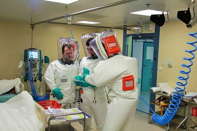 Personel medyczny podczas szkoleń w Centrum Ochrony Biologicznej w Těchonínie