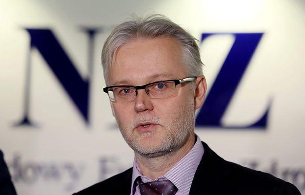 Prezes NFZ Tadeusz Jędrzejczyk w grudniu 2015 r.
