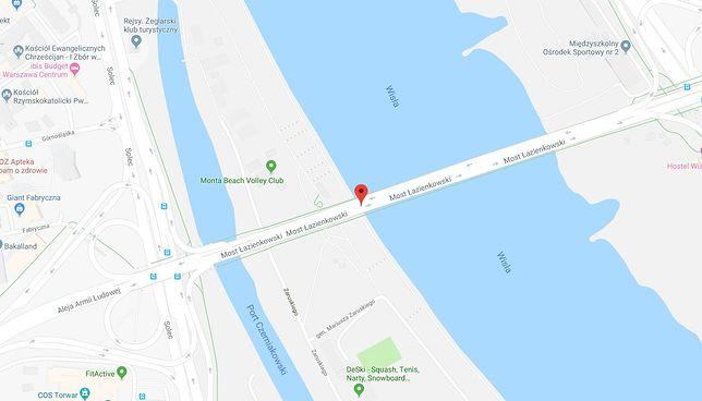 Do wypadku doszło na Moście Łazienkowskim