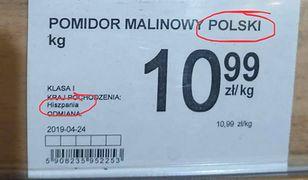 Sieć sklepów tłumaczy, że wszystkie pomidory pochodzą u niej z Polski, nie z Hiszpanii