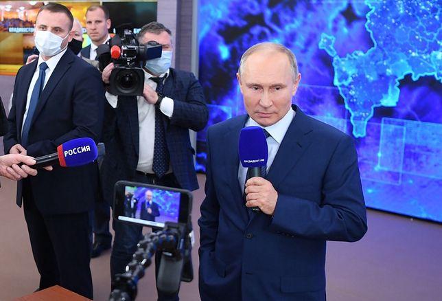 Władimir Putin na dorocznej konferencji prasowej