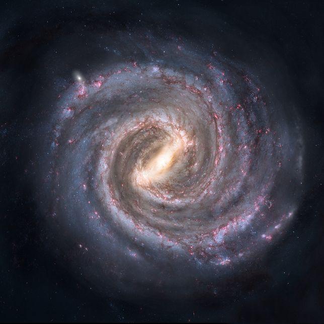 Zderzenie może pobudzić czarną dziurę w sercu galaktyki