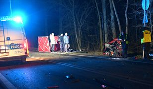 Marki. Tragiczny wypadek na drodze nr 631. Nie żyje jedna osoba