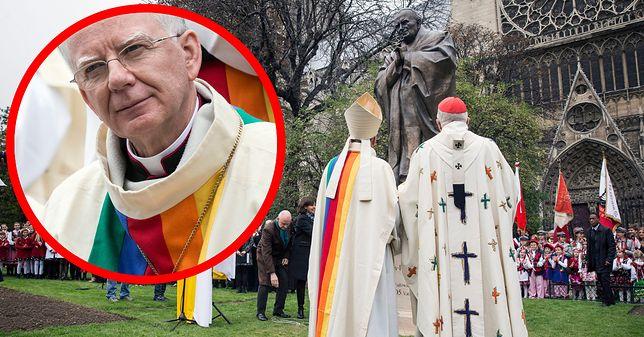 W 2014 roku abp Marek Jędraszewski wystąpił w ornacie z symbolem tęczy