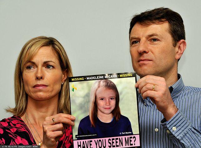 Kate i Gerry McCann i zdjęcie zaginionej Madeleine