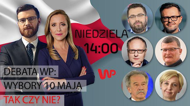 """Debata WP: wybory 10 maja – tak czy nie? Specjalne wydanie programu """"Newsroom"""""""