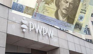 Na stulecie Polskiej Wytwórni Papierów Wartościowych banknot o nominale 19 zł