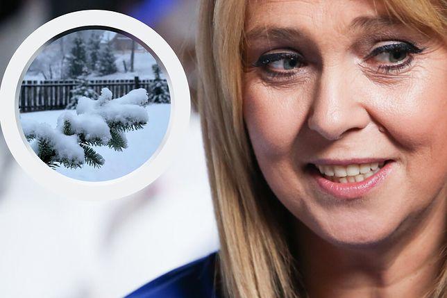 """Ewa Wachowicz pokazała śnieg za oknem. """"A ja na letnich oponach..."""""""