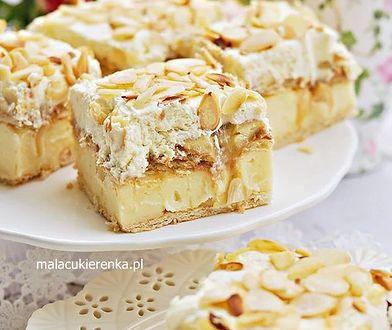 Ciasto krówka budyniowa z bananami na krakersach. Bez pieczenia