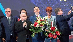 Liderzy PiS podczas konwencji partii w Szczecinie. 12 maja 2019 roku.