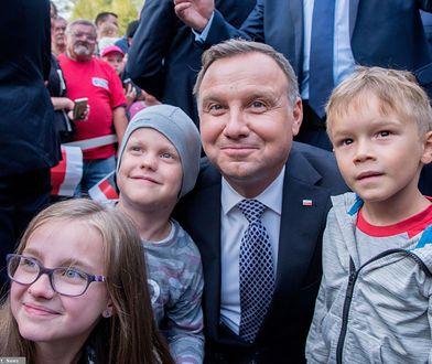 Drawsko Pomorskie. Prezydent Andrzej Duda na spotkaniu z mieszkańcami.