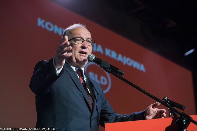 Włodzimierz Czarzasty podczas konwencji samorządowej SLD w Warszawie