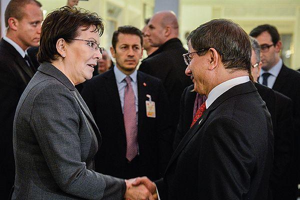 Premier Ewa Kopacz z premierem Turcji Ahmetem Davutoglu