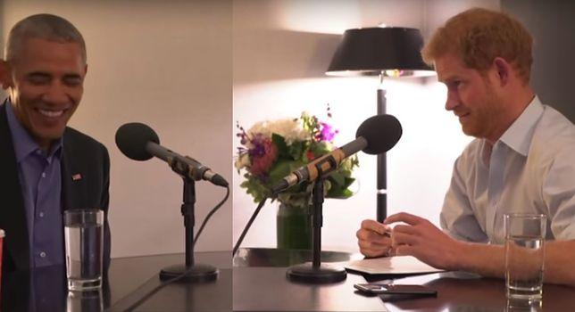 Książę Harry przeprowadza wywiad z Barackiem Obamą.