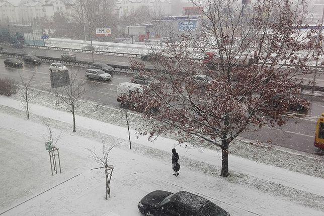 Tak w środę rano wyglądała Warszawa