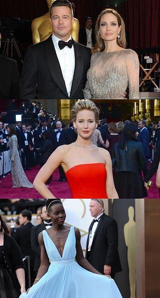 Angelina Jolie, Brad Pitt, Jennifer Lawrence, Lupita Nyong'o