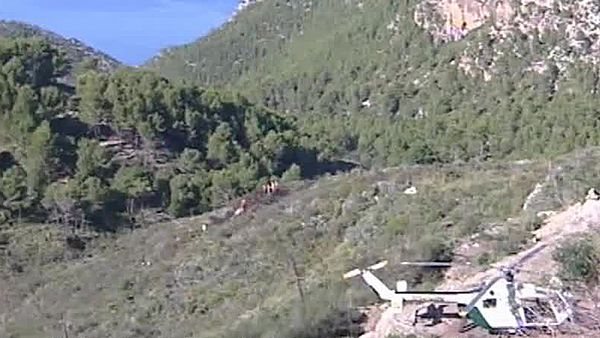 Brytyjski helikopter eksplodował w powietrzu - film