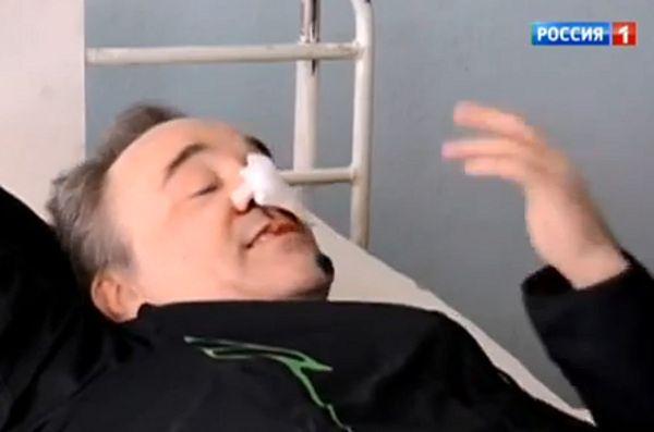 Kadr z nagrania stacji Rossija zamieszczony na YouTube