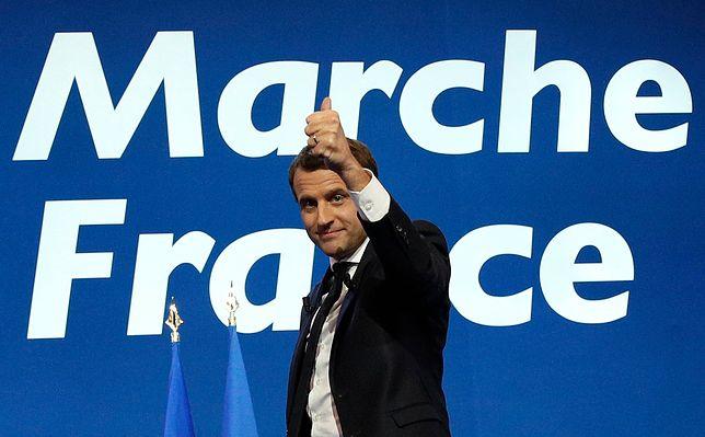 Pierwszą turę wyborów we Francji wygrał Emmanuel Macron