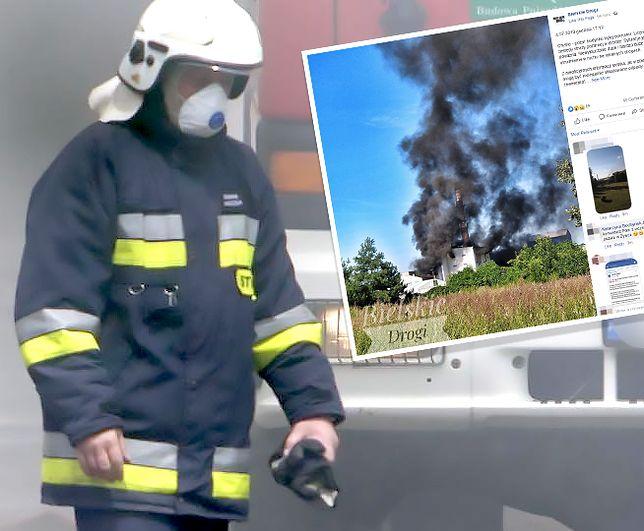 Pożaru w Chybiu jak dotąd nie udało się opanować