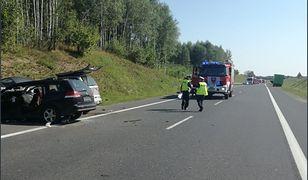 Wypadek na krajowej 16 pod Olsztynem. Siedem osób rannych