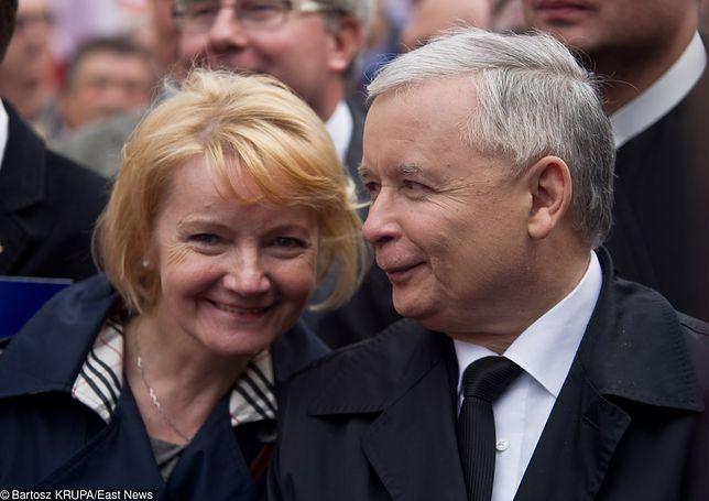 Jolanta Szczypińska i Jarosław Kaczyński